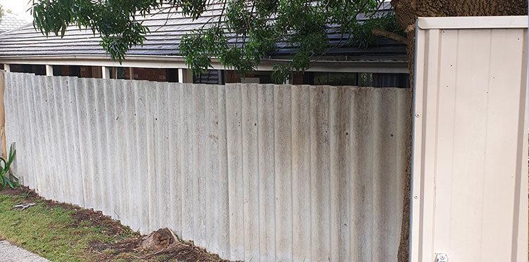 Asbestos Fence Remova
